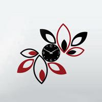 ساعت دیواری طرح گلبرگ